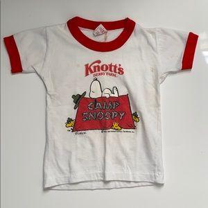 Vintage 1965 Knott's Berry Farm Camp Snoopy Tee